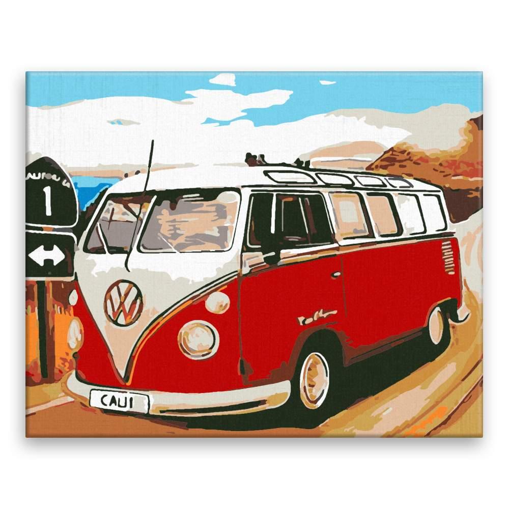 Malování podle čísel VW Califonský caravan