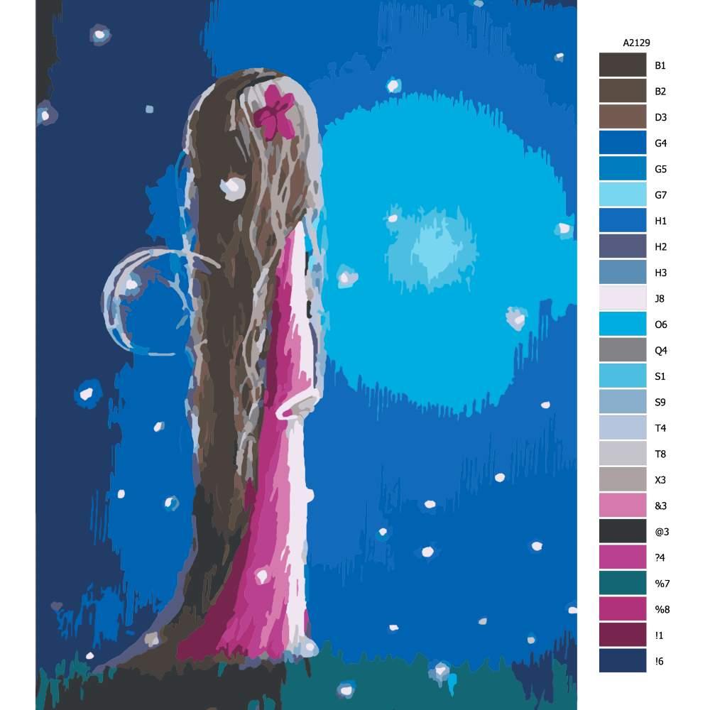 Návod pro malování podle čísel Čekaní na úsvit