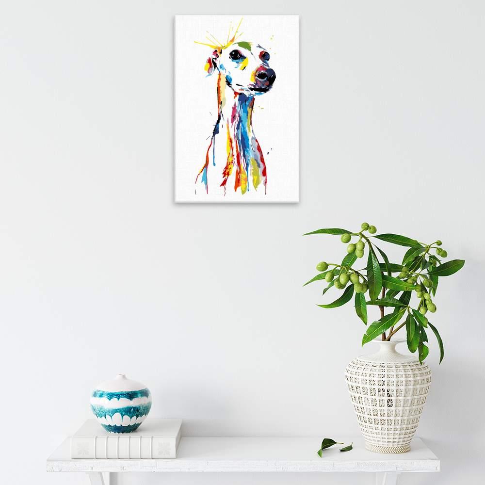 Malování podle čísel Čekání na páníčka v barvách