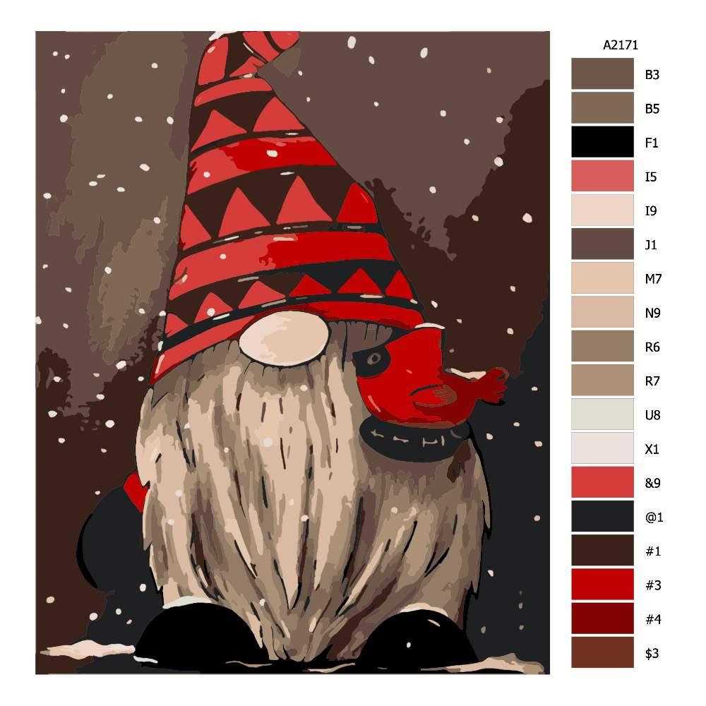 Malování podle čísel Zimní skřítek