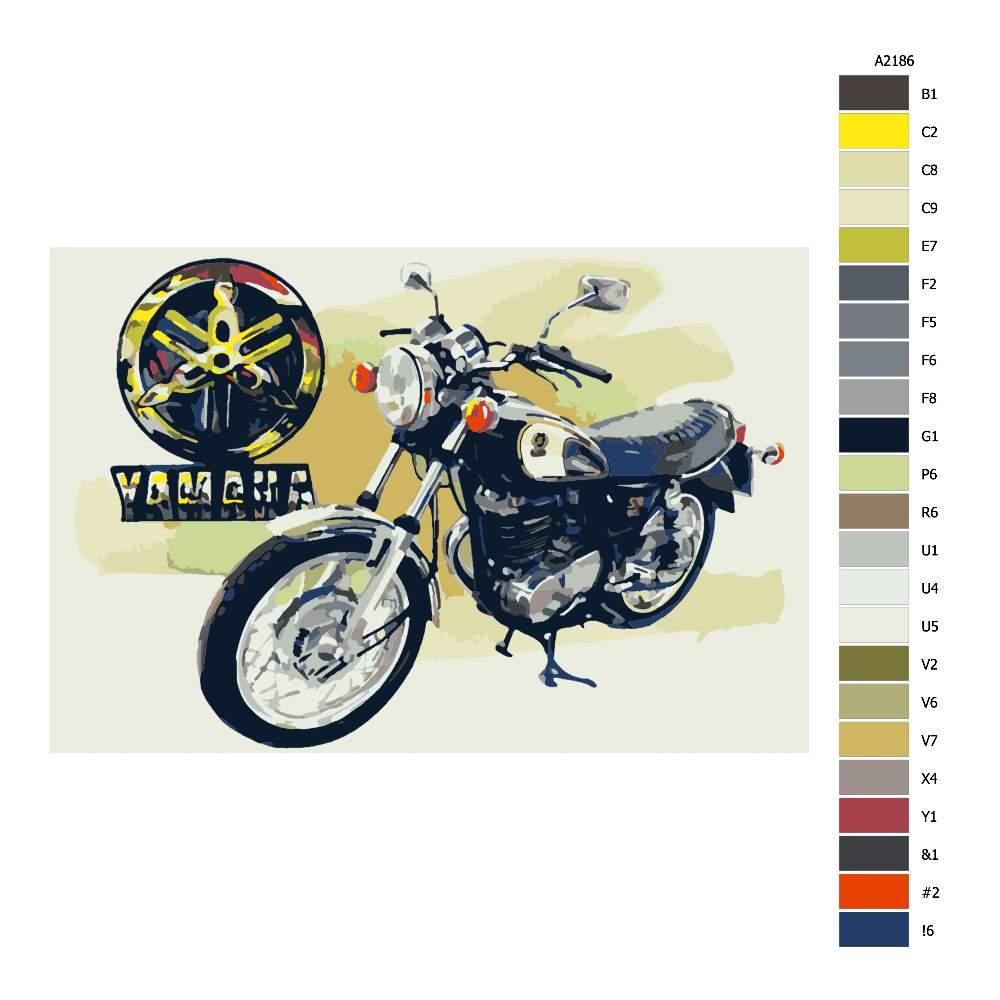 Návod pro malování podle čísel Yamaha