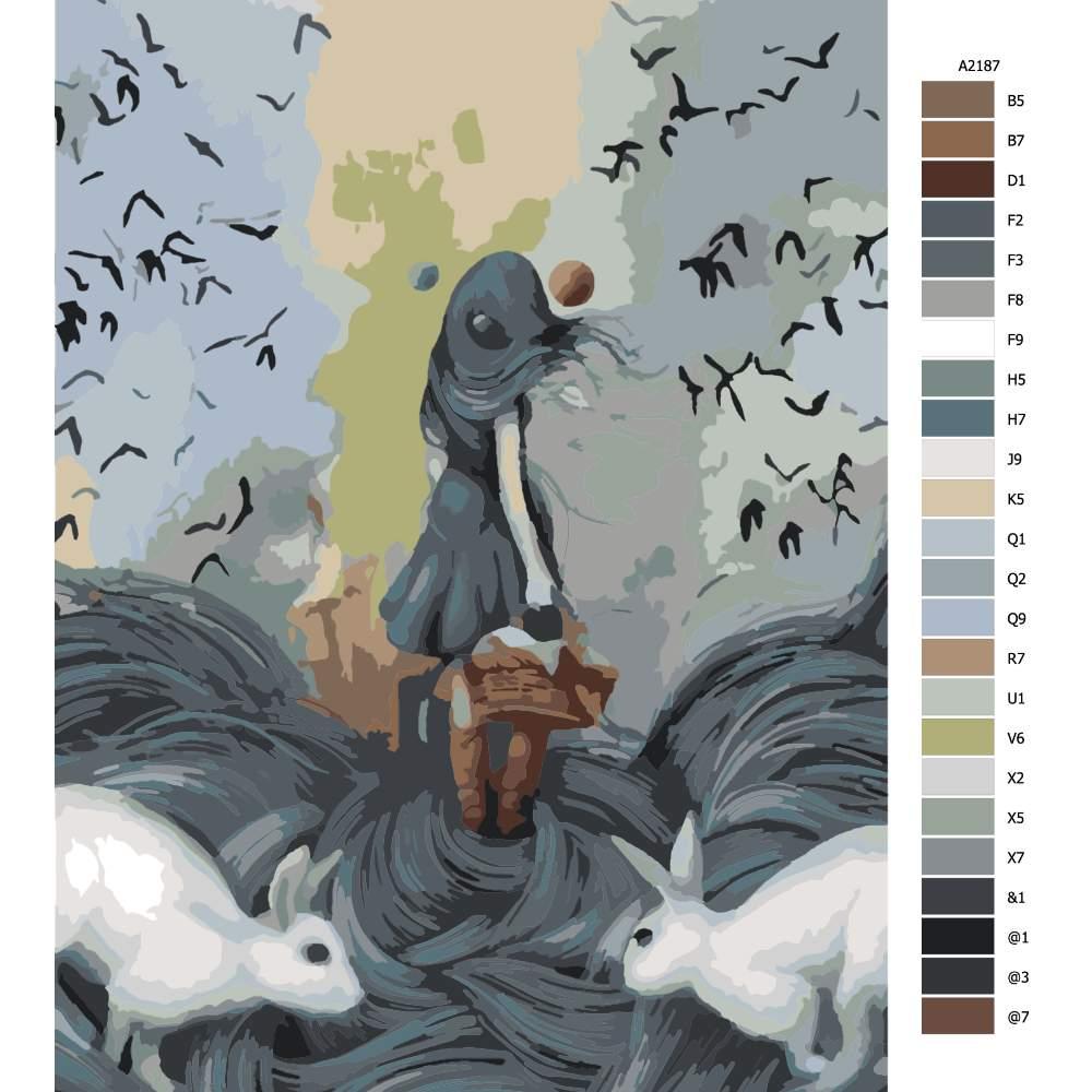 Návod pro malování podle čísel Přízová pohádka