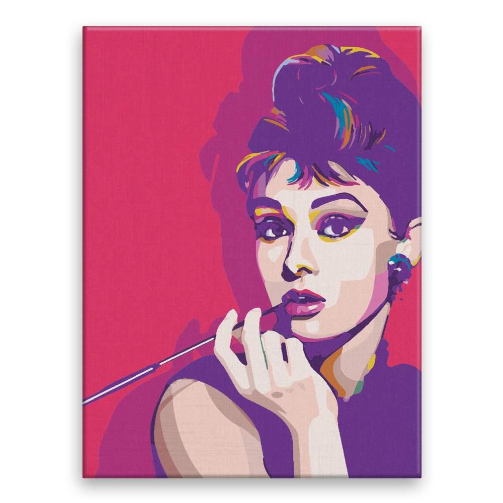 Malování podle čísel Audrey Hepburn 02