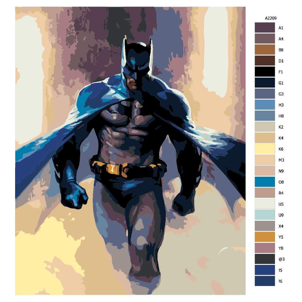 Návod pro malování podle čísel Batman 04