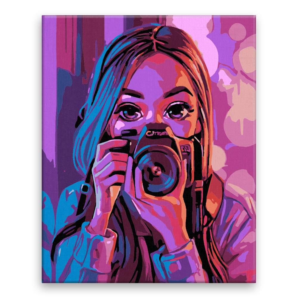 Malování podle čísel Fotografka