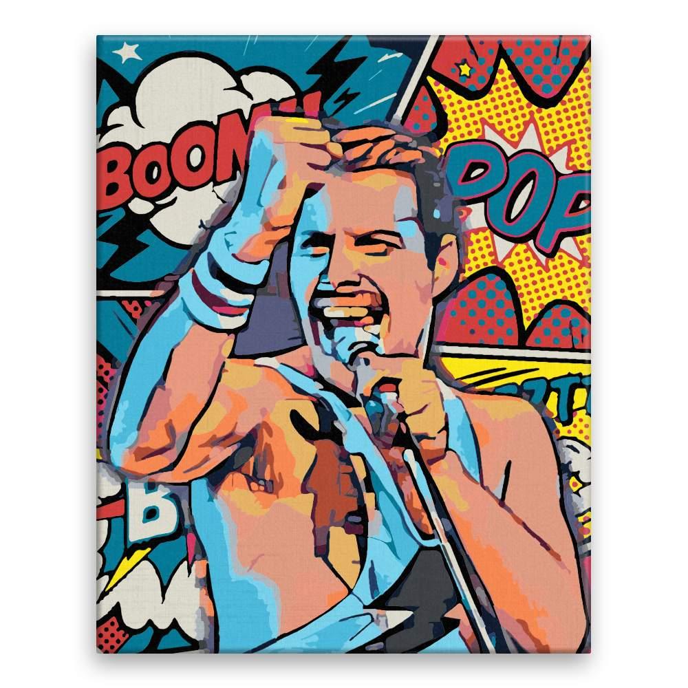 Malování podle čísel Freddie Mercury 03