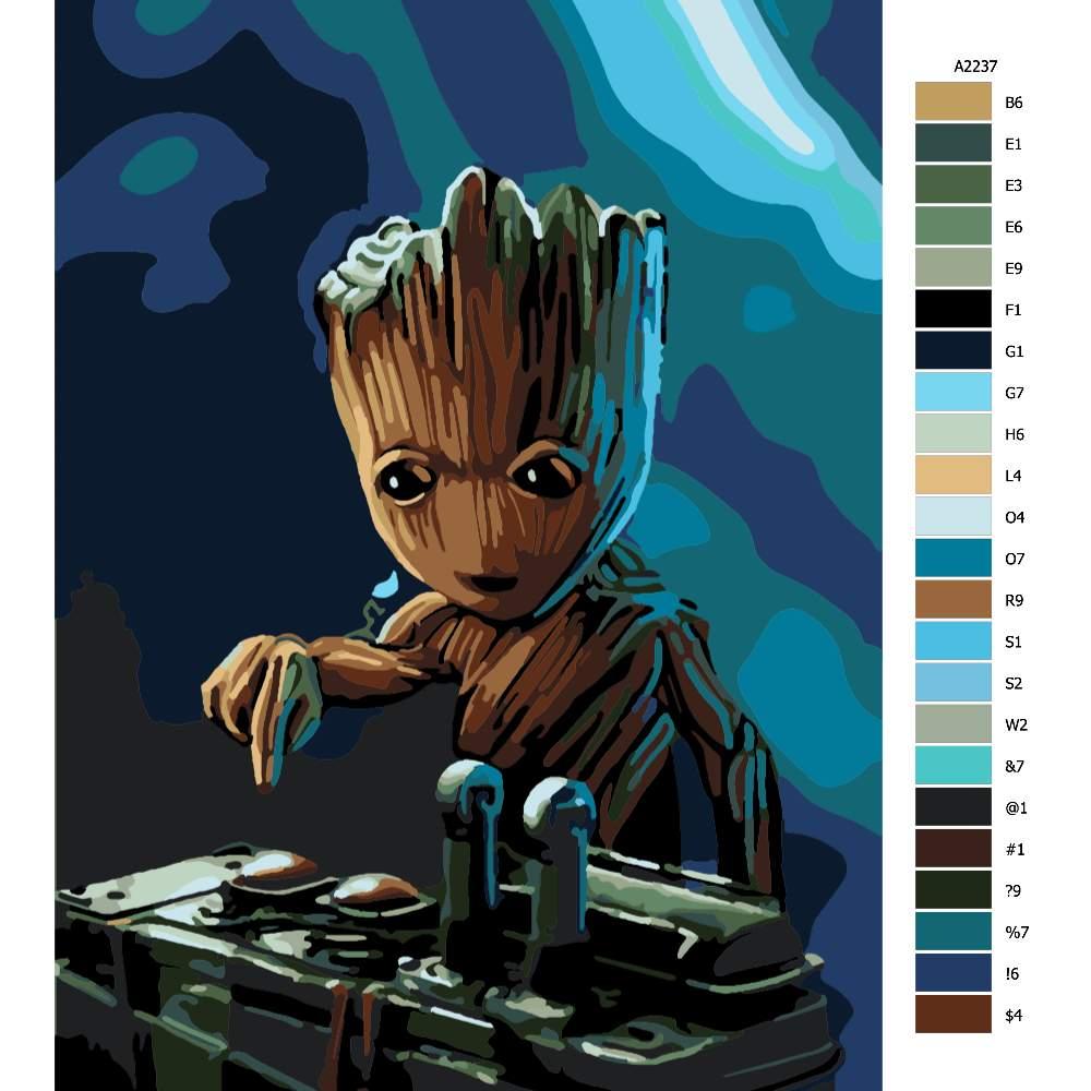 Návod pro malování podle čísel Groot 03