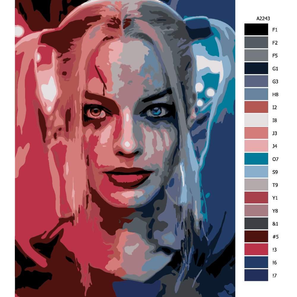 Návod pro malování podle čísel Harley Quinn 04