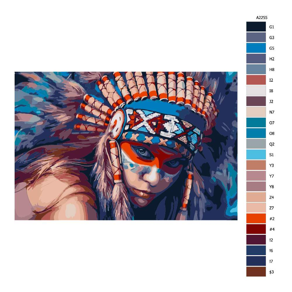 Návod pro malování podle čísel Indigenous Women 01