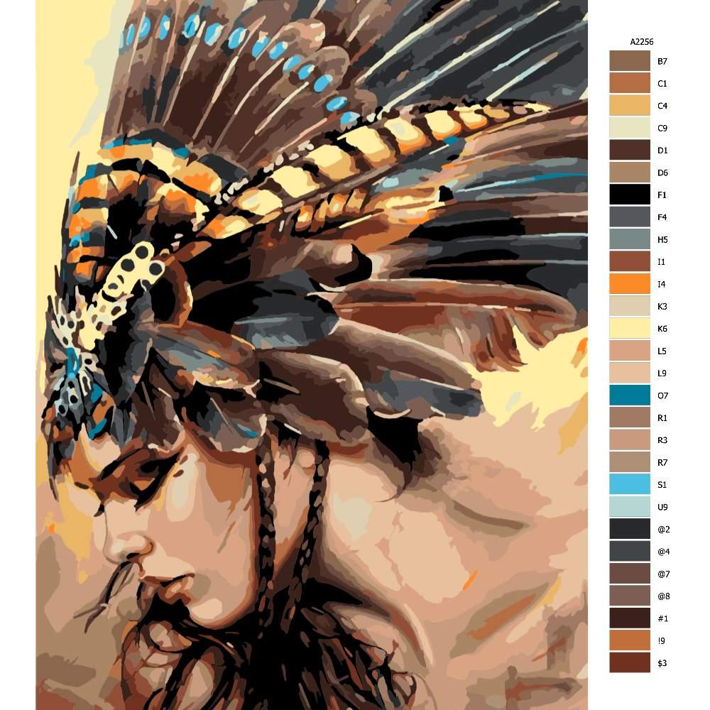 Návod pro malování podle čísel Indigenous Women 02