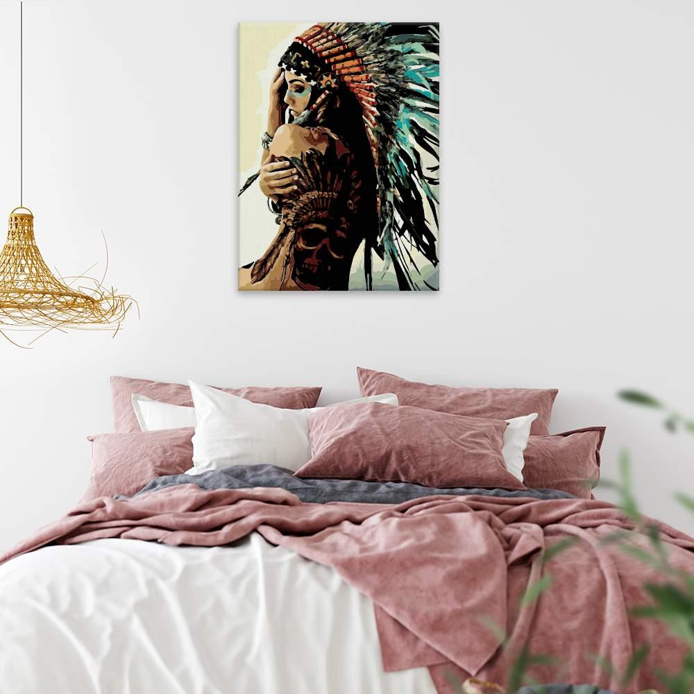 Malování podle čísel Indigenous Women 03
