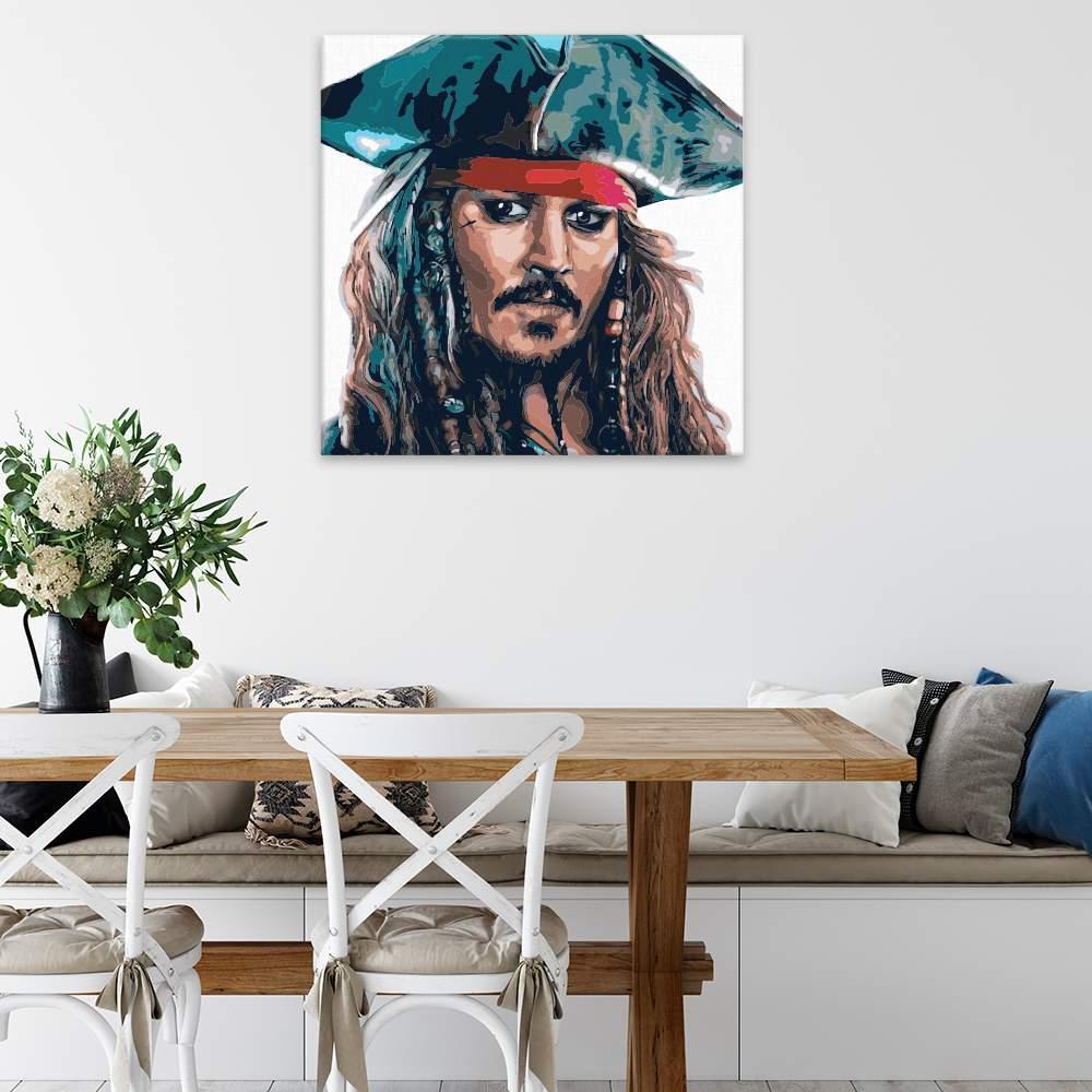 Malování podle čísel Jack Sparrow 01
