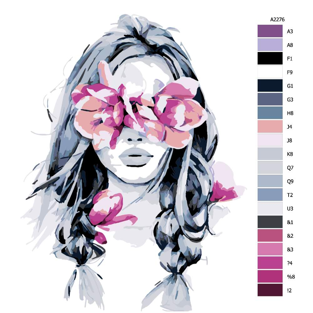Návod pro malování podle čísel Květinový nádech