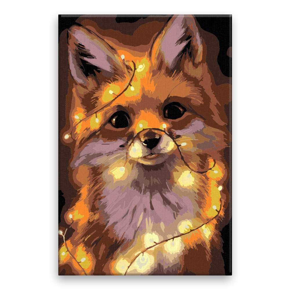 Malování podle čísel Liška se světýlky