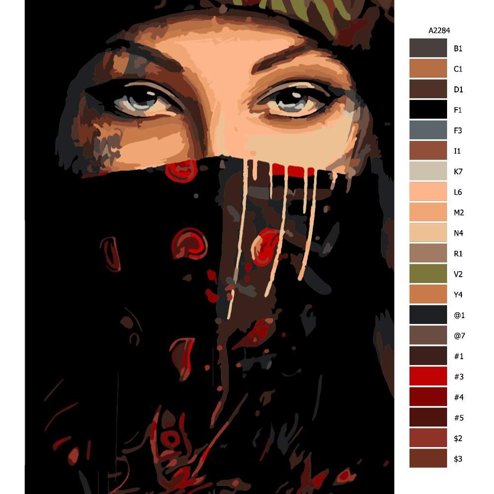 Malování podle čísel Maskovaná