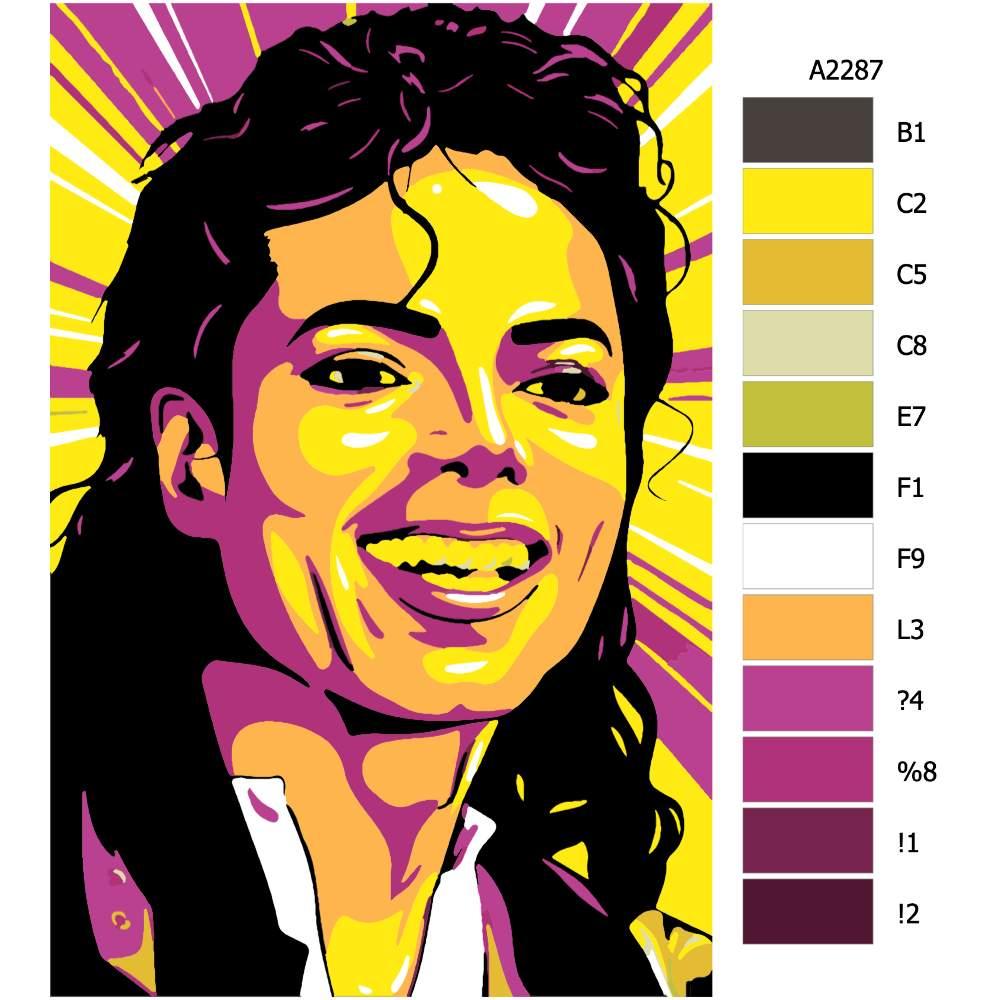 Návod pro malování podle čísel Michael Jackson 01