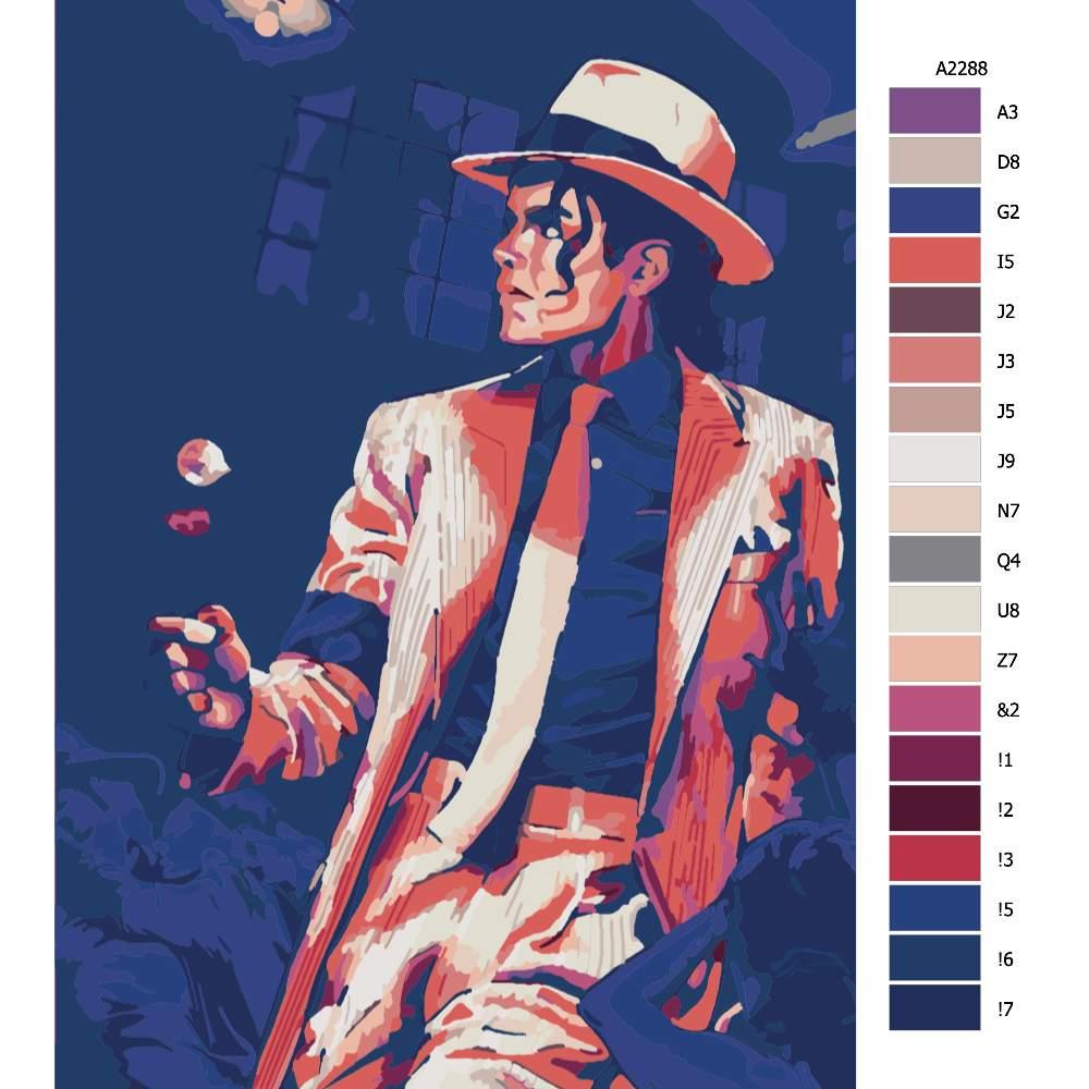 Návod pro malování podle čísel Michael Jackson 02