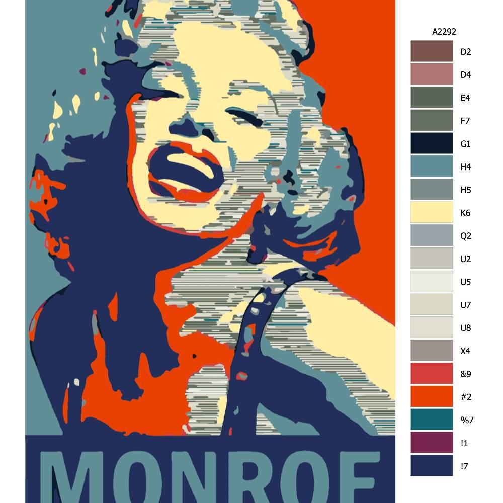 Návod pro malování podle čísel Marilyn Monroe 01