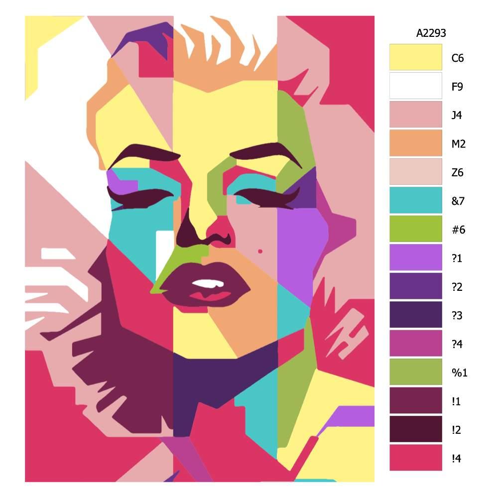 Návod pro malování podle čísel Marilyn Monroe 02