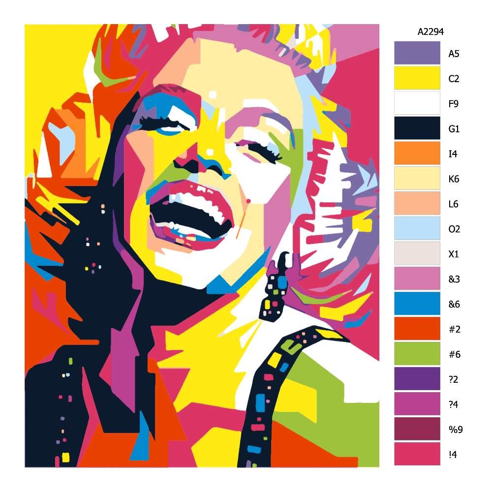 Návod pro malování podle čísel Marilyn Monroe 03