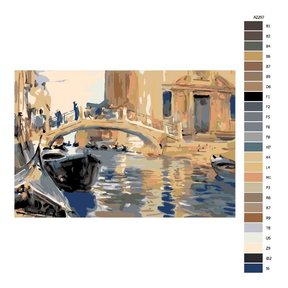Návod pro malování podle čísel Most v Benátkách