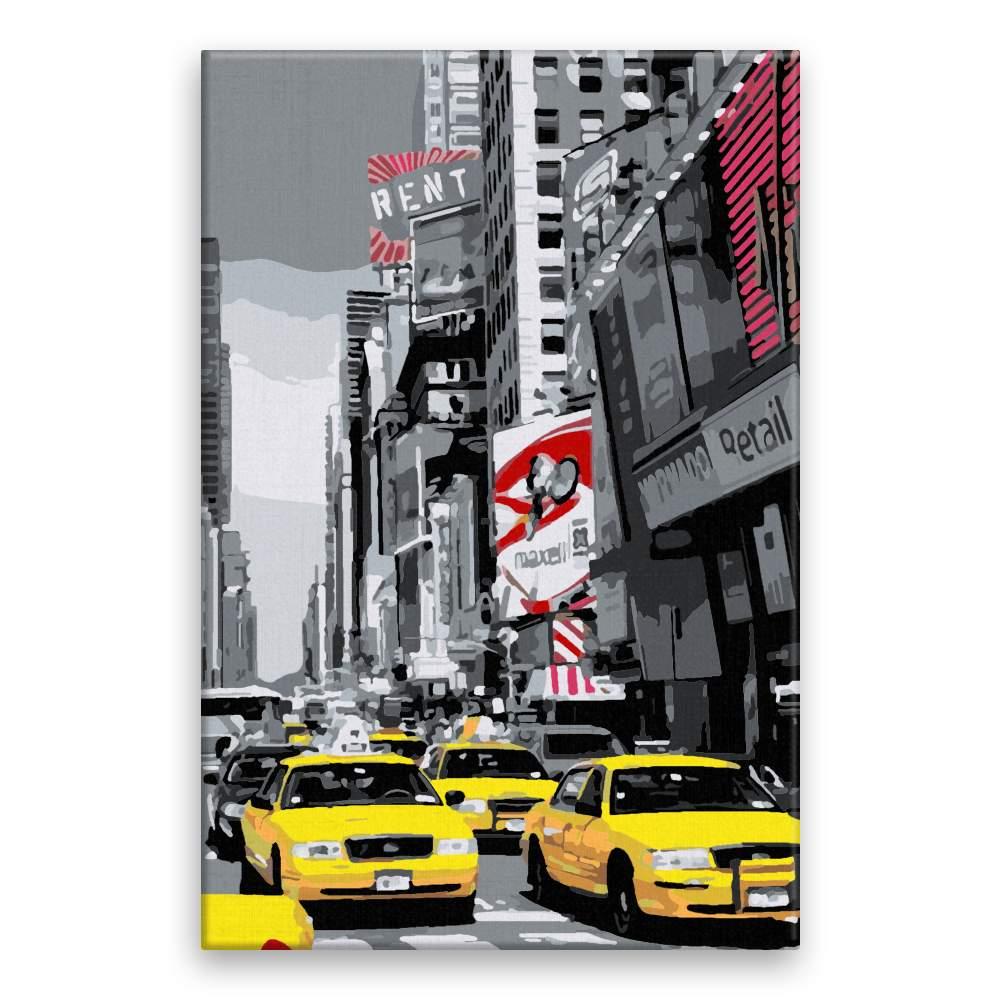 Malování podle čísel New York taxi