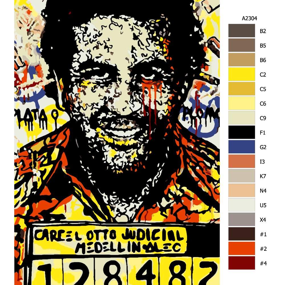 Návod pro malování podle čísel Pablo Escobar 03