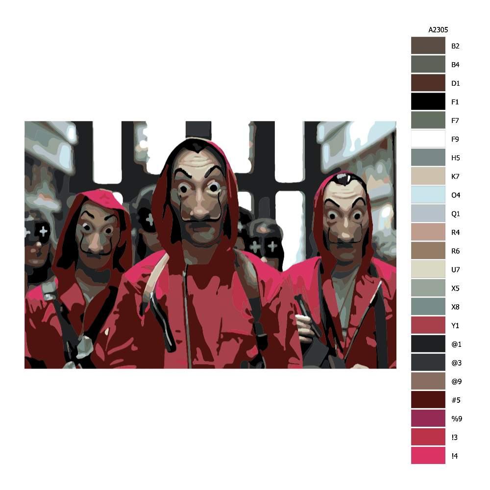 Návod pro malování podle čísel Papirovy dum 01