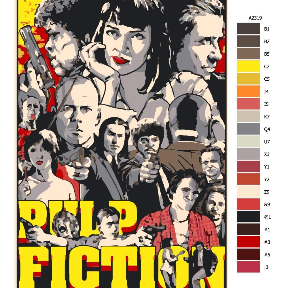 Návod pro malování podle čísel Pulp Fiction 01