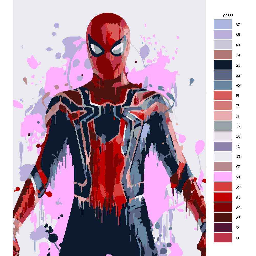Návod pro malování podle čísel Spiderman 02