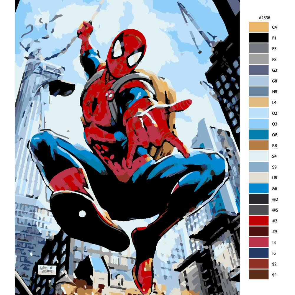 Malování podle čísel Spiderman 05