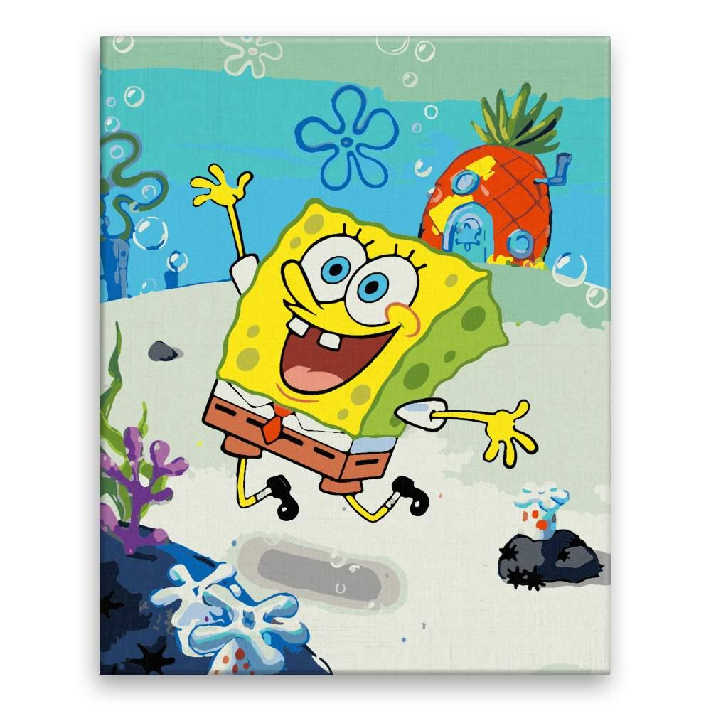 Malování podle čísel SpongeBob
