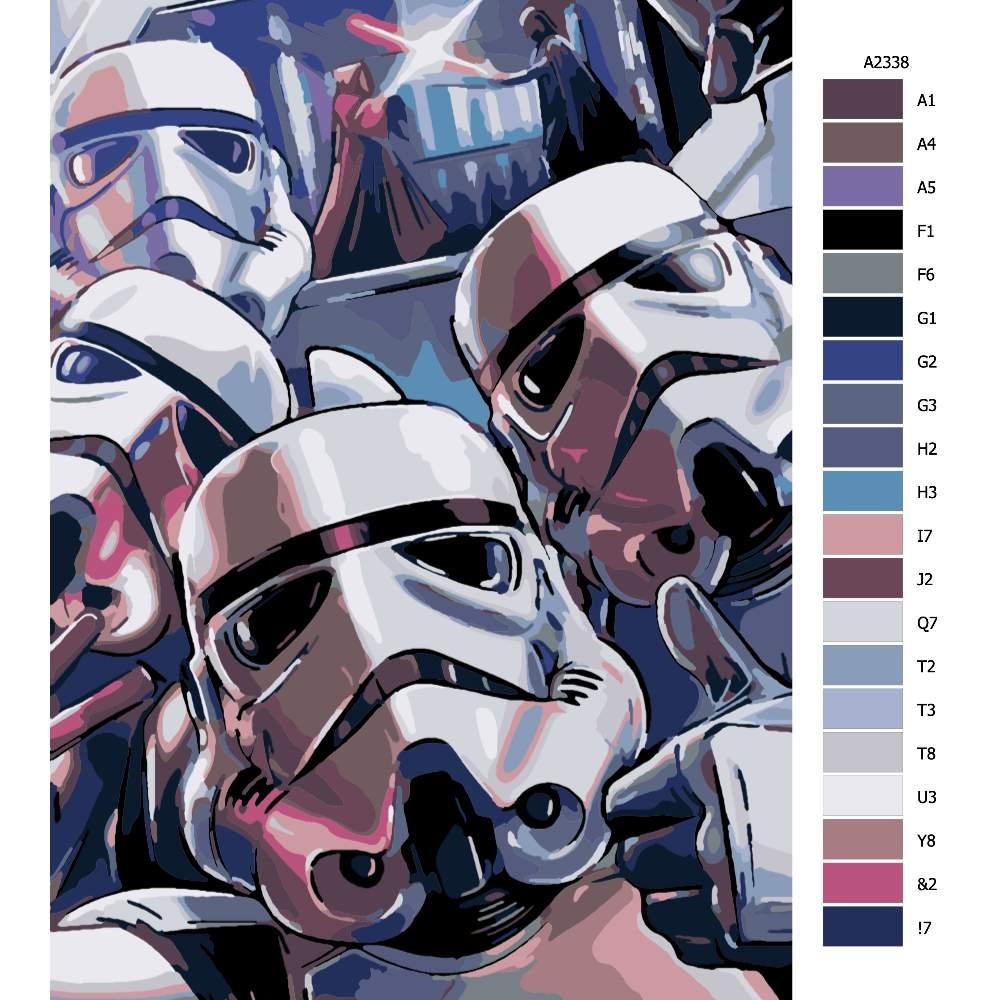 Návod pro malování podle čísel Star Wars 02