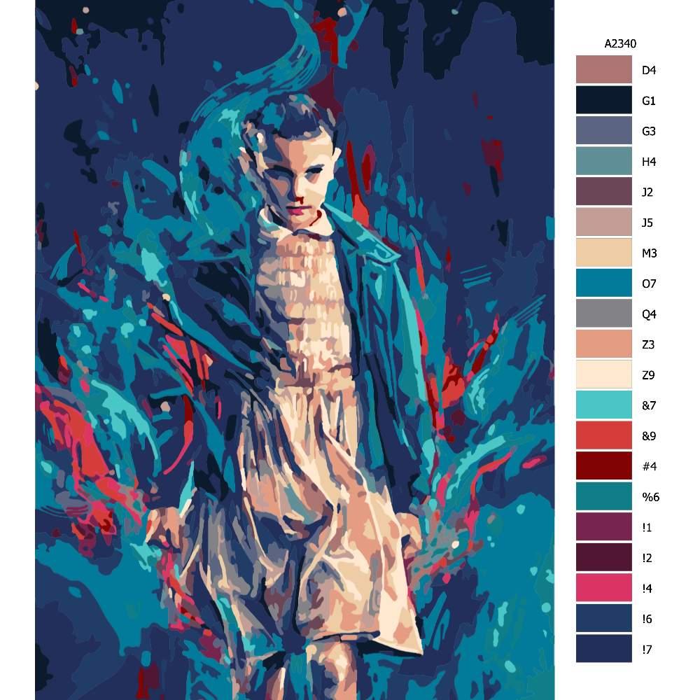 Návod pro malování podle čísel Stranger Things 01
