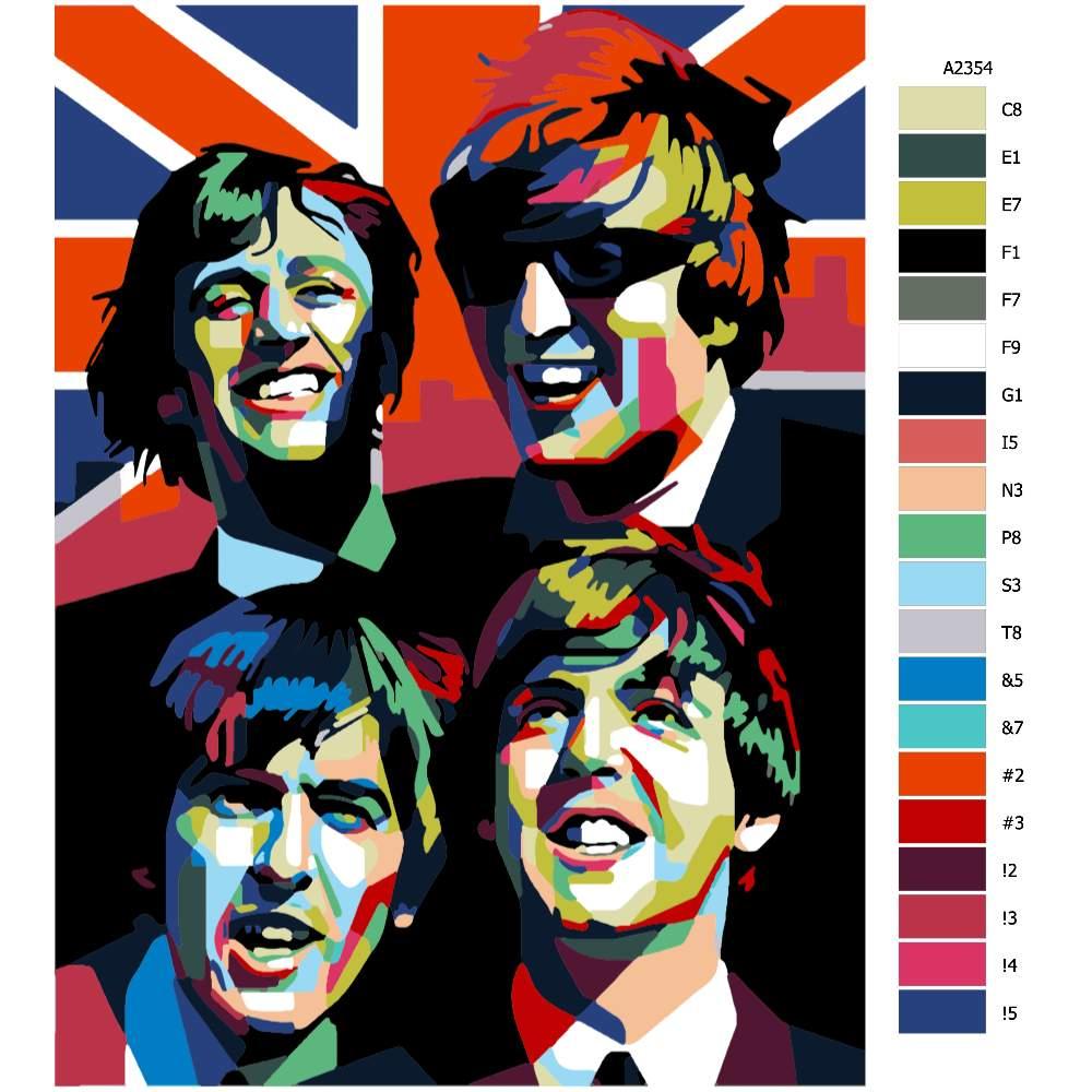 Návod pro malování podle čísel The Beatles 02
