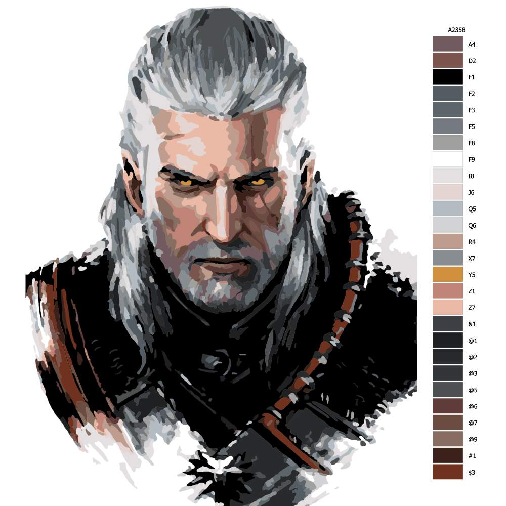 Návod pro malování podle čísel The Witcher 04