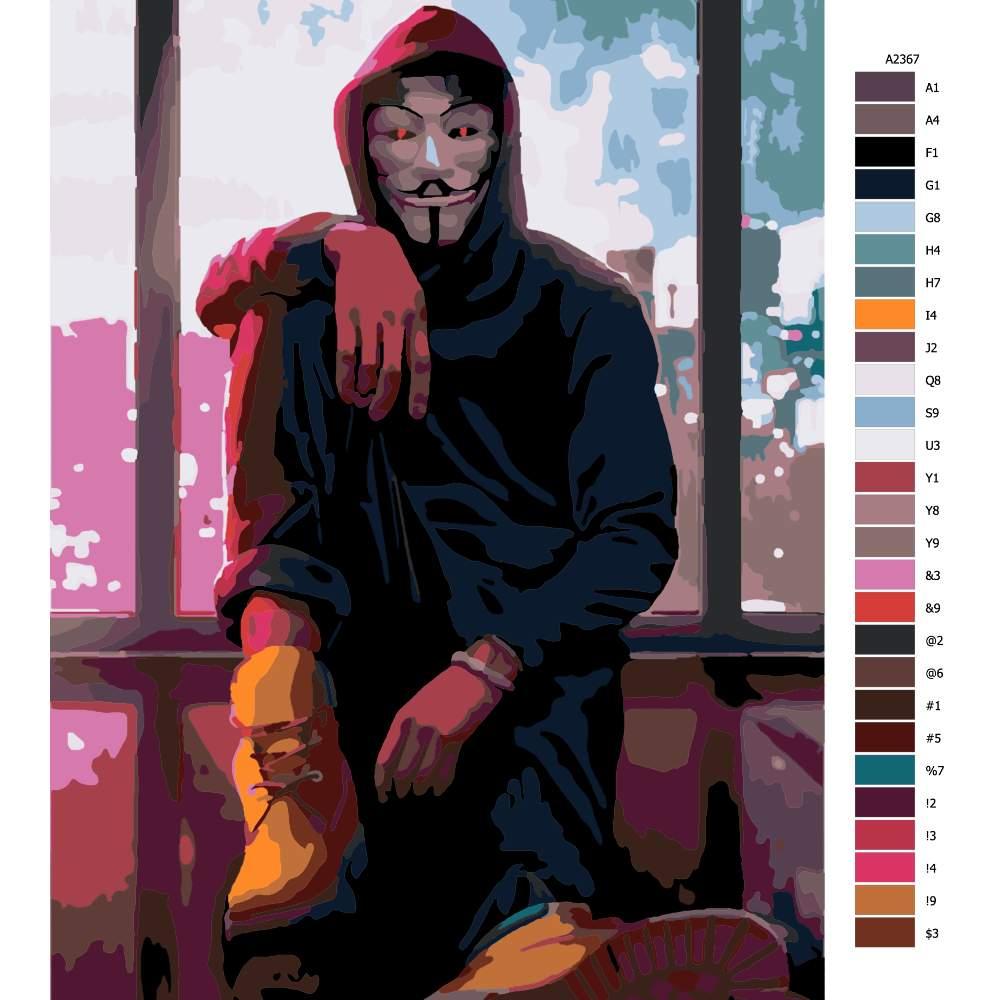 Návod pro malování podle čísel Vendeta 03