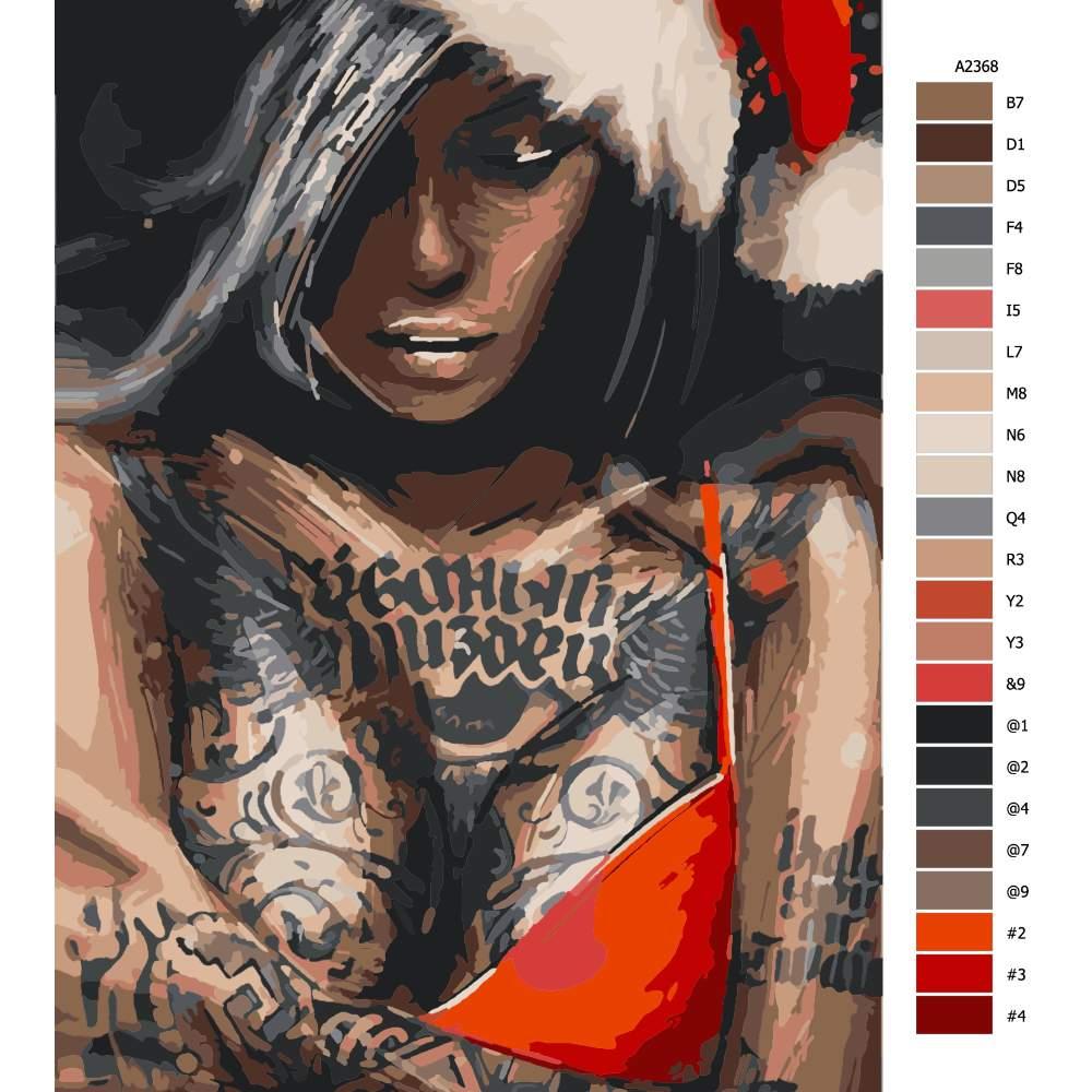 Návod pro malování podle čísel Veselé vánoce