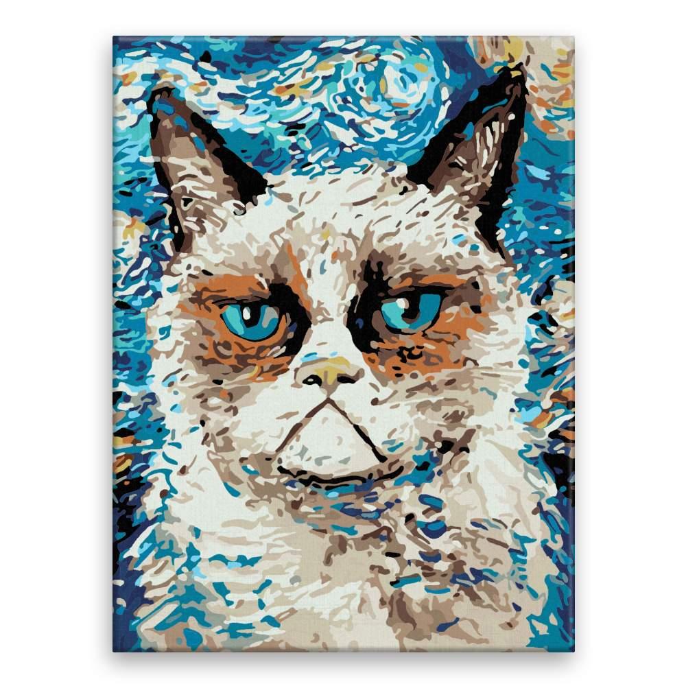 Malování podle čísel Kočka Grumpy