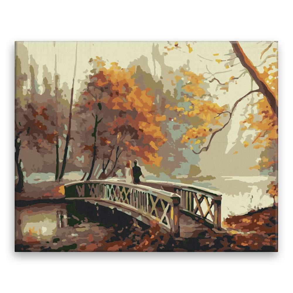 Malování podle čísel Na mostě v parku