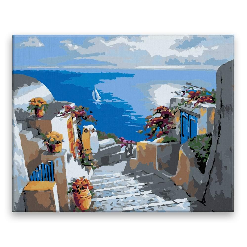 Malování podle čísel Schody k moři