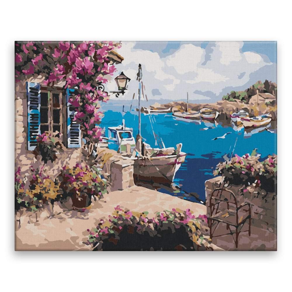 Malování podle čísel Soukromý přístav